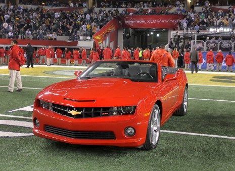Super Bowl XLV MVP, Aaron Rodgers, received a 2011 Chevy Camaro convertible