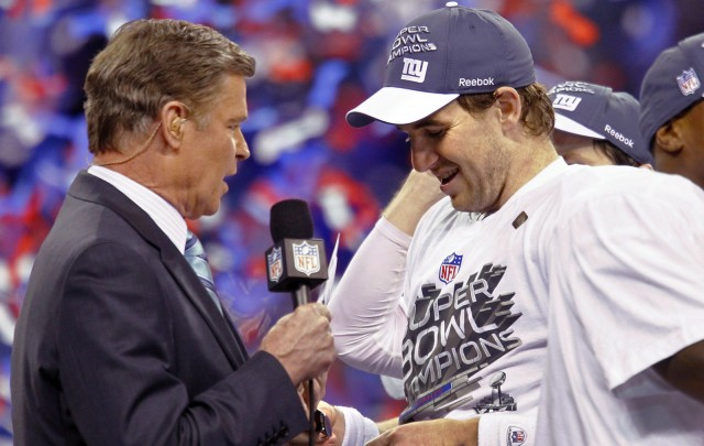 Super Bowl XLVI MVP Eli Manning presented with 2012 Chevy Corvette
