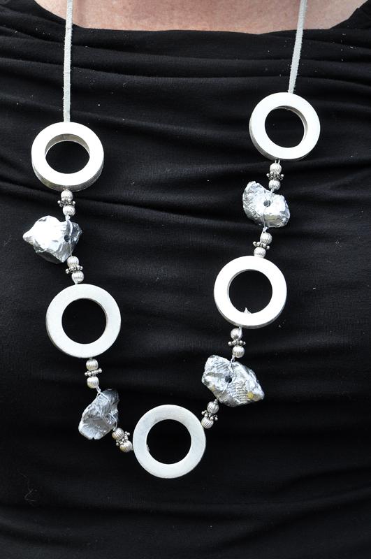 Suzuki parts necklace, courtesy Karen Stoffer - Anne Proffit photo