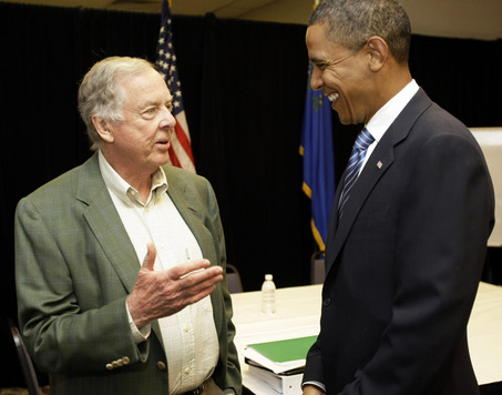 T. Boone Pickens with President Barack Obama