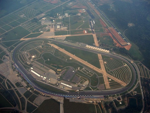 Talladega Superspeedway, as seen from 5,000 feet - image: AuburnPilot