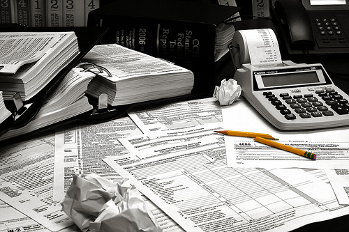 Tax forms by Flickr user bobt54