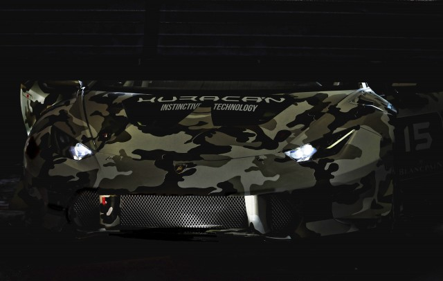 Teaser for 2015 Lamborghini Huracán LP 610-4 Super Trofeo race car