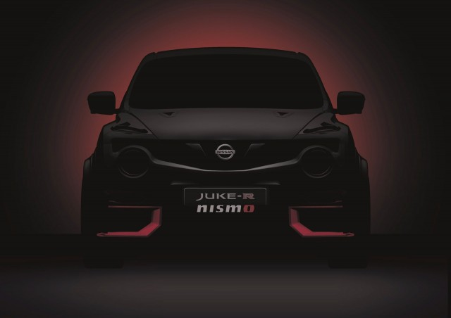 Teaser for 2015 Nissan Juke-R NISMO debuting at 2015 Goodwood Festival of Speed