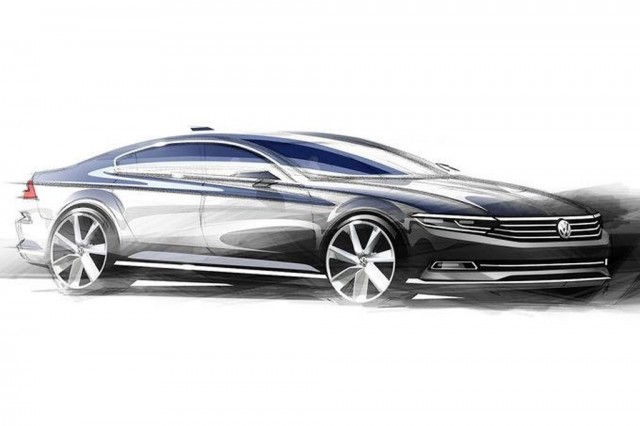 Teaser for 2015 Volkswagen Passat (European-spec)