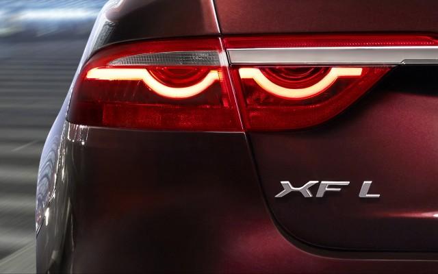 Teaser for 2016 Jaguar XFL debuting at 2016 Beijing Auto Show