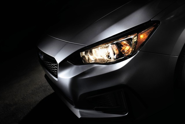 Teaser for 2017 Subaru Impreza debuting at 2016 New York Auto Show