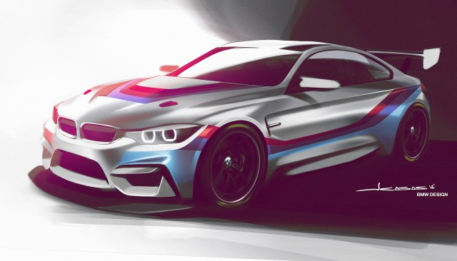 Teaser for 2018 BMW M4 GT4 race car