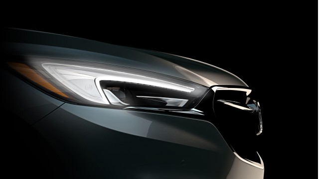 Teaser for 2018 Buick Enclave debuting at 2017 New York auto show