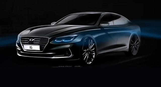 Teaser for 2018 Hyundai Azera