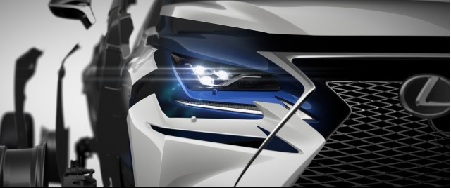 Teaser for 2018 Lexus NX debuting at 2017 Shanghai auto show