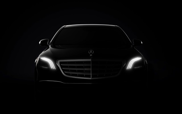 Teaser for 2018 Mercedes-Benz S-Class debuting at 2017 Shanghai auto show