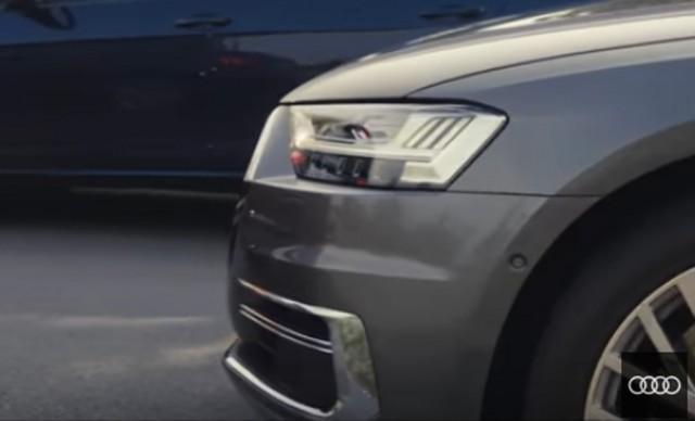 Teaser for 2019 Audi A8 debuting on July 11, 2017