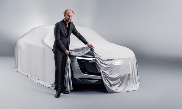 Teaser for Audi Audi e-tron Sportback concept debuting at 2017 Shanghai auto show