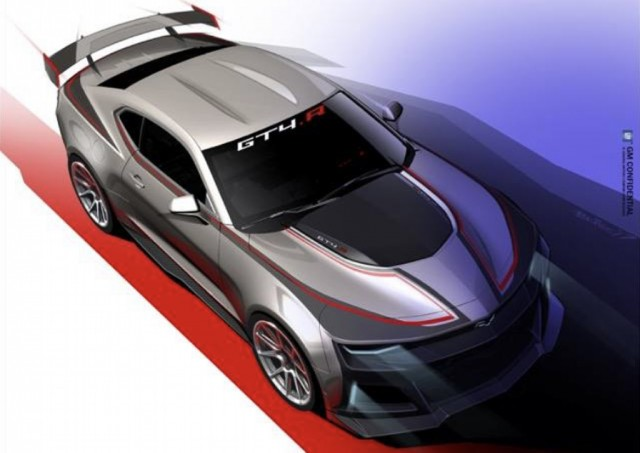 Teaser for Chevrolet Camaro GT4.R race car