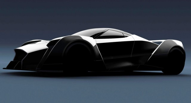 Teaser for Dendrobium supercar debuting at 2017 Geneva auto show