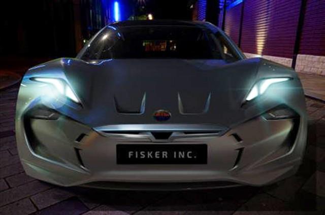 Teaser for Fisker electric sedan