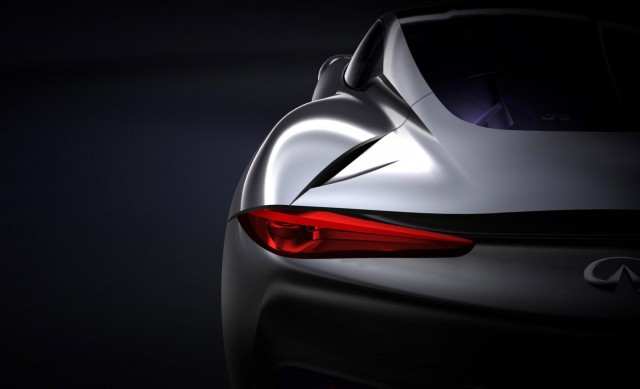 Teaser for Infiniti range-extended electric sports car concept
