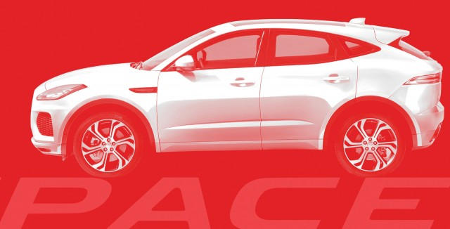 Teaser for Jaguar E-Pace debuting on July 13, 2017