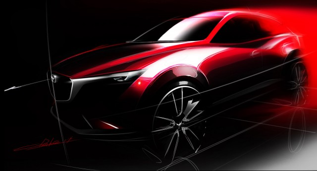 Teaser for Mazda CX-3 subcompact crossover