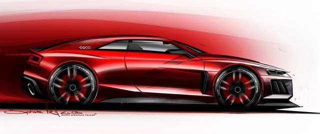 Teaser for new Audi Quattro concept