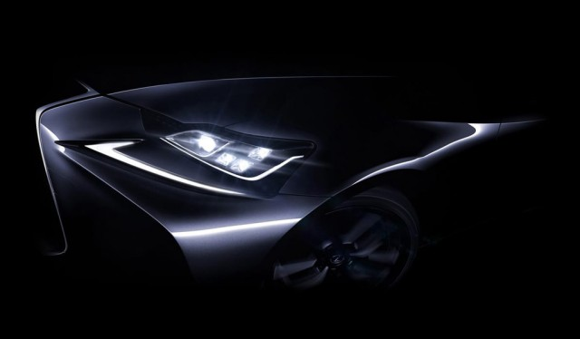 Teaser for updated Lexus IS debuting at 2016 Beijing Auto Show