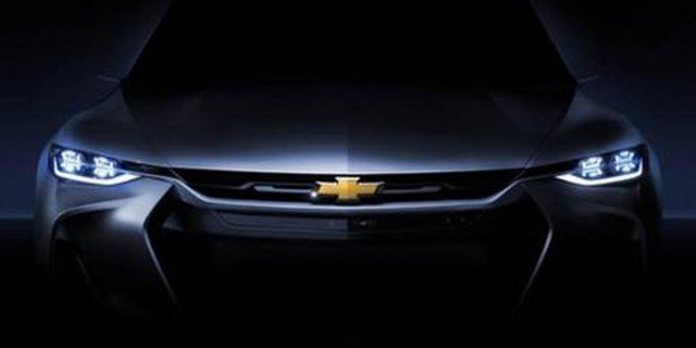 Teaser photo of Chevrolet FNR-X plug-in crossover utility concept for 2017 Shanghai auto show