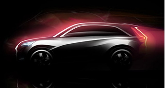 Teaser sketch for new Acura crossover concept