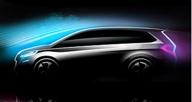 Teaser sketch for new Honda MPV concept