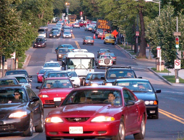 Teen driver - busy street- AAA Foundation for Traffic Safety