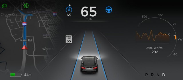 Tesla Autopilot suite of features - with version 7.0 update