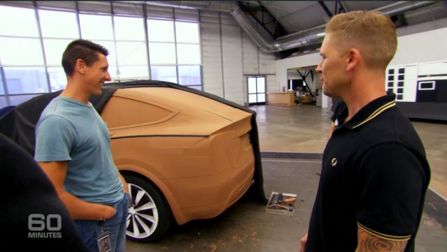 Tesla design studio (screencap from Australian '60 Minutes')