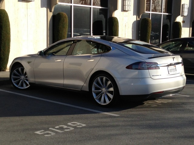 Tesla Model S outside High Gear Media office, Menlo Park, CA, March 2013 [photo: Eugene Lee]