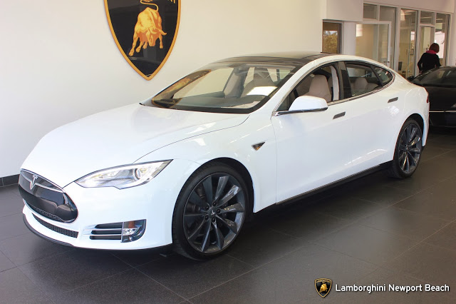 Tesla Model S purchased with Bitcoins from Lamborghini Newport Beach