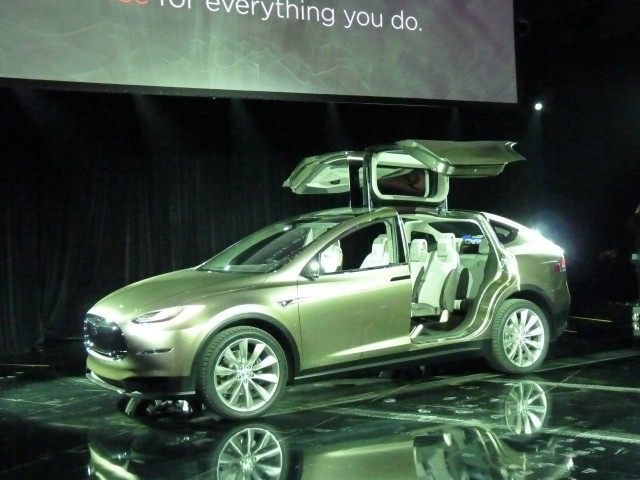 Tesla Model X  -  Official Debut, Los Angeles, February 2012