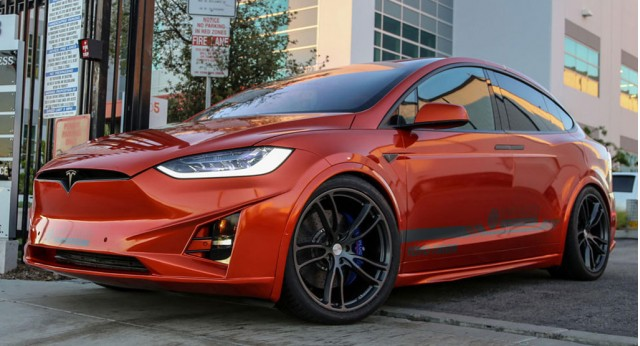 Tesla Model X by Unplugged Performance, 2016 SEMA show