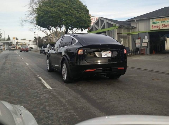 Tesla Model X prototype photographed on test, California, Feb 2015. Photo by Simerjit Dhaliwal.