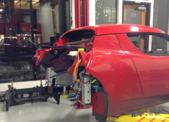 Tesla Repairs Roadster Just Before Warranty Expires (Photo via TeslaMotorsClub.com member Bolosky)