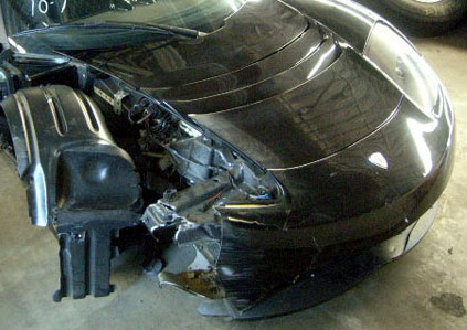 Tesla Roadster crash