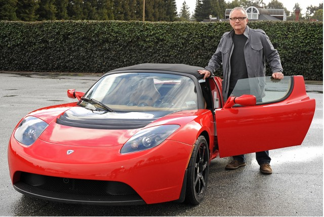 Bruce Richter drives the 2010 Tesla Roadster Sport