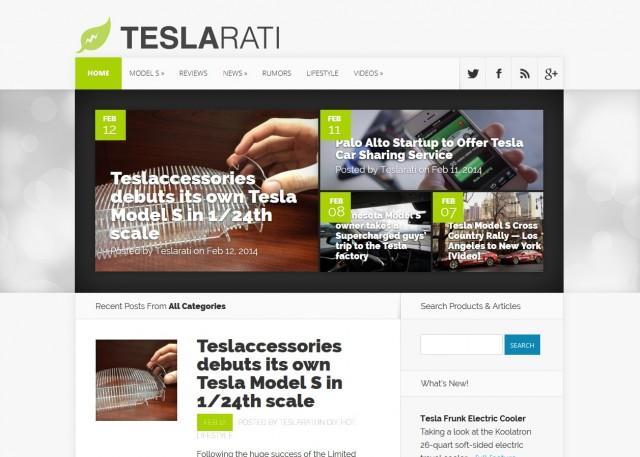 Teslarati front page