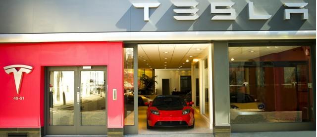 Tesla's flagship London location in Knightsbridge