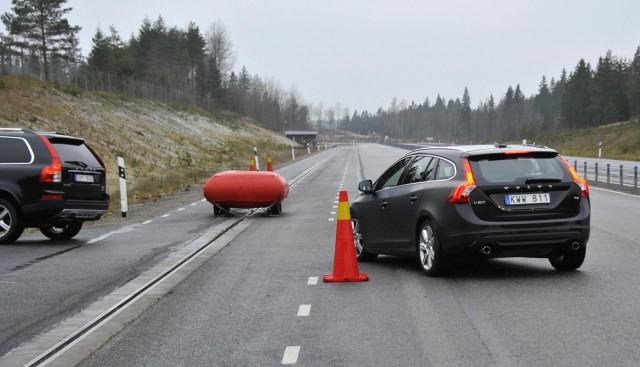 Testing of Volvo's safety technology