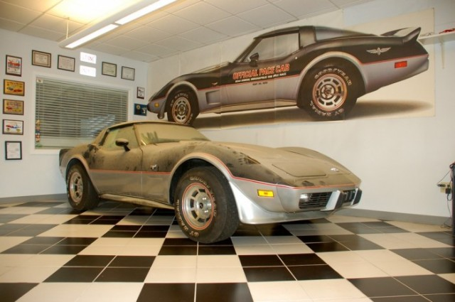 The 13-mile, barn-find 1978 Corvette Indy Pace Car. Image: Corvette Mike of New England