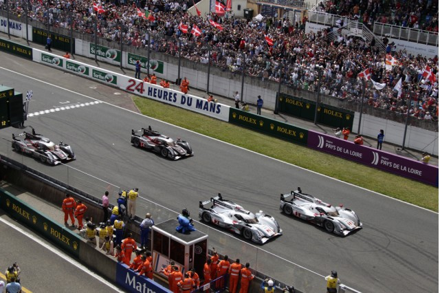 The all-Audi photo finish at Le Mans - Audi photo