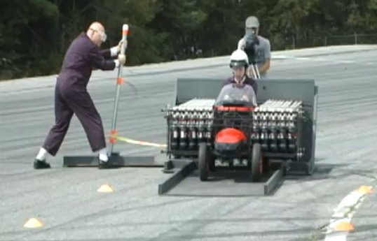 The Diet Coke and Mentos powered Rocket Car Mark 2.