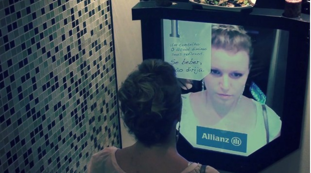 The 'Drunk Mirror' drunk-driving campaign by Ogilvy for Allianz