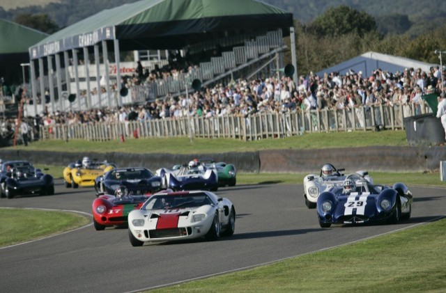 The Ford GT40 on track