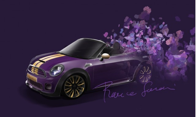 The Franca Sozzani styled MINI Roadster, prepared for Life Ball 2012