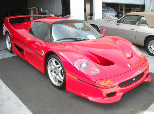 The infamous FBI-crashed Ferrari F50